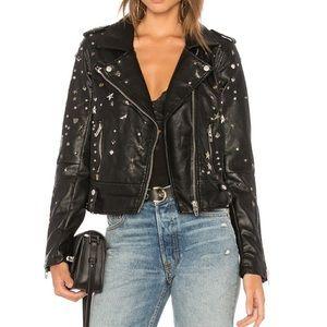 Blank NYC studded black Moto jacket medium